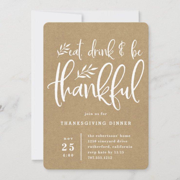 Thankful Season | Thanksgiving Dinner Invitation