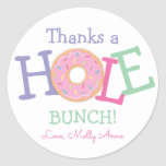Thanks a Hole Bunch Donut Birthday Party *Favor Classic Round Sticker