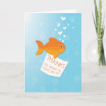 ❤️ Thanks For Feeding Fish Thank You Card