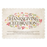 Thanksgiving Celebration Foliage Invitation