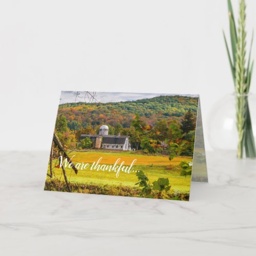 Thanksgiving Friendship Thankful Fall Autumn Holiday Card