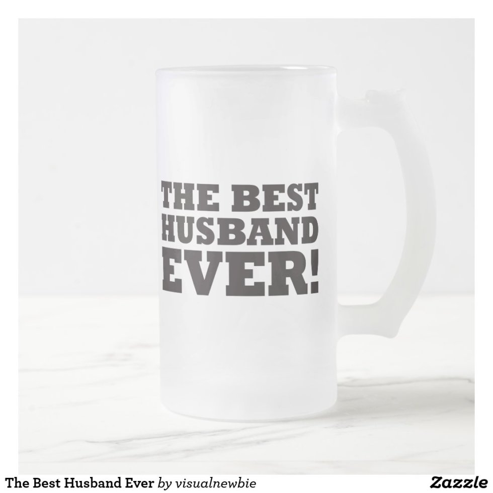 The Best Husband Ever Frosted Glass Beer Mug