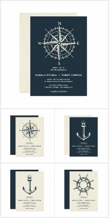 Nautical wedding compass  maritime  summer wedding beach wedding yacht club wedding