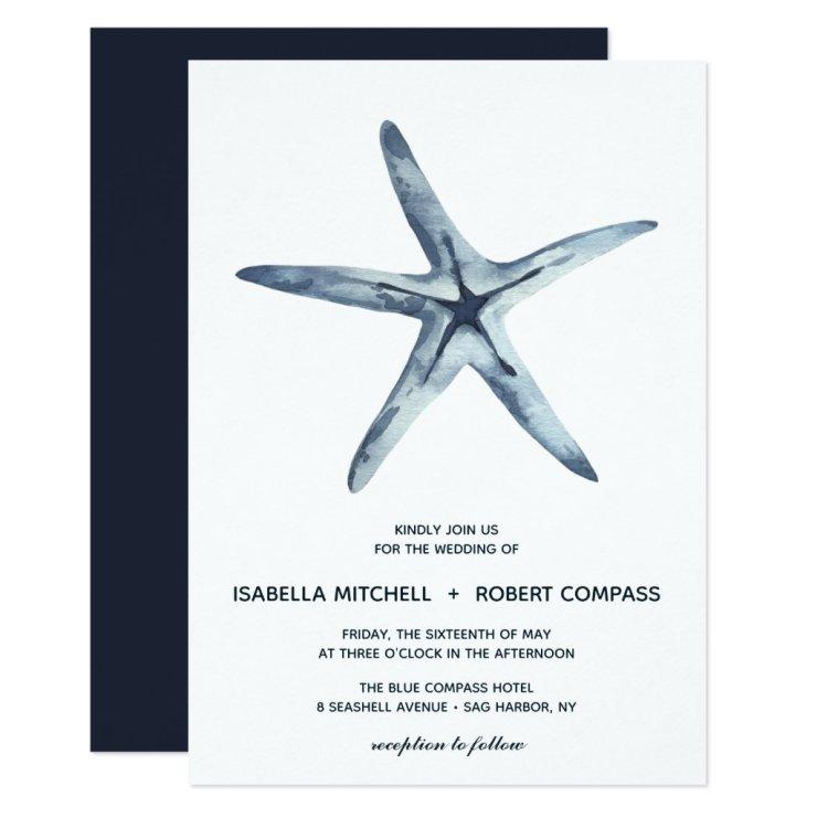 The Blue Starfish | Wedding Invitation