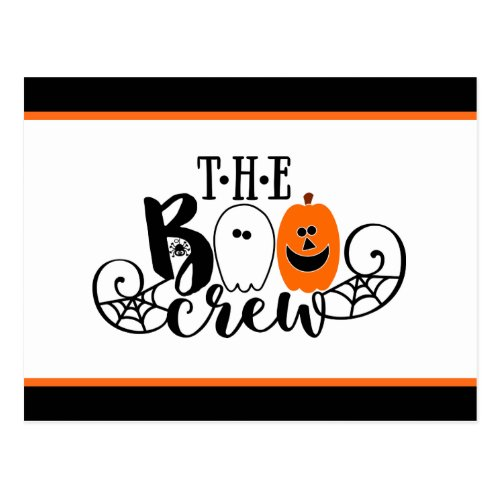The Boo Crew Halloween Ghost Pumpkin Postcard