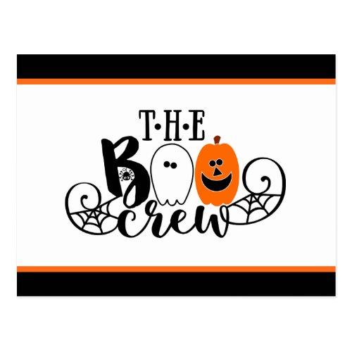 The Boo Crew Halloween Ghost Pumpkin Postcard