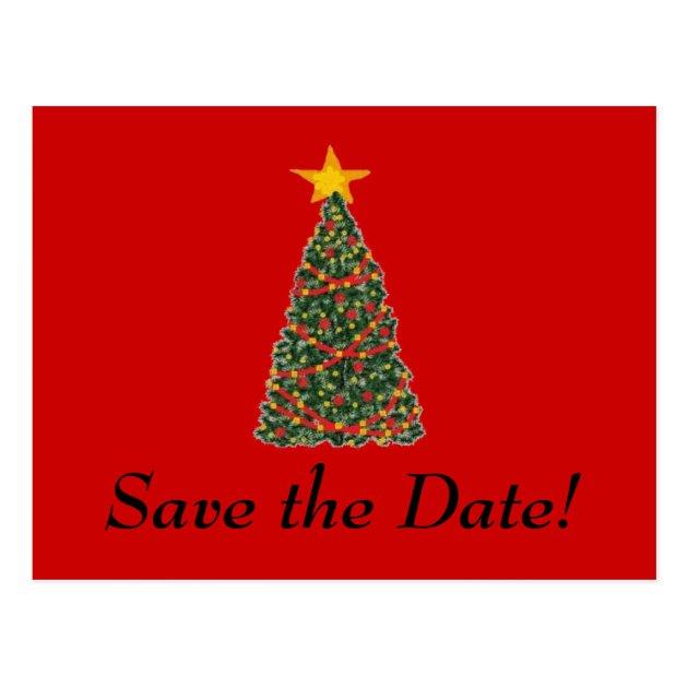 The Christmas Tree Save The Date Postcard