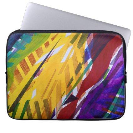 The City II - Abstract Rainbow Streams Computer Sleeve