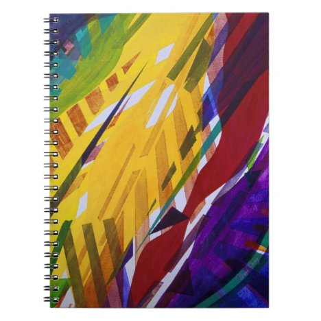 The City II - Abstract Rainbow Streams Notebook