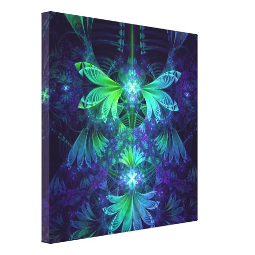 The Clockwork Kite Wings of a Blue-Green Dragonfly Canvas Print