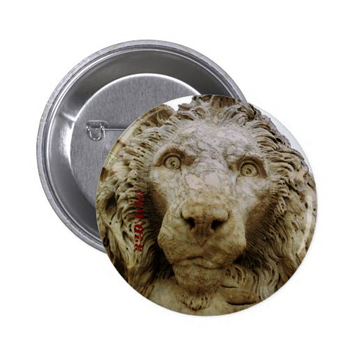 The Curious Lion of Massa, 2¼ Inch Round Button