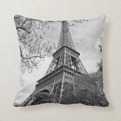 the Eiffel tower Throw Pillow  Zazzle
