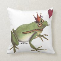 The frog prince pillow | Zazzle