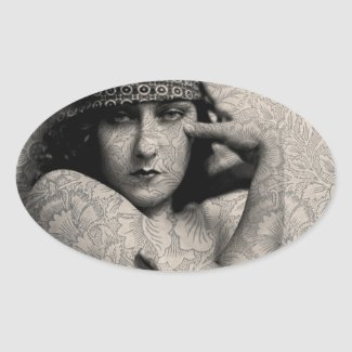 The Gloria Swanson Tattoo Sticker