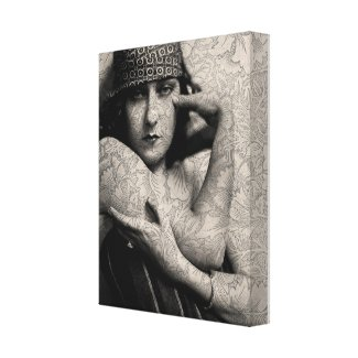 The Gloria Swanson Tattoo Stretched Canvas Print
