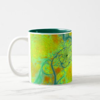 The Green Earth – Teal & Gold Tides mug