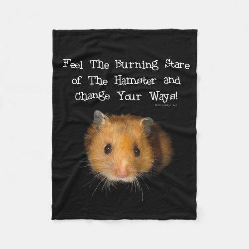 The Hamster Stare Fleece Blanket