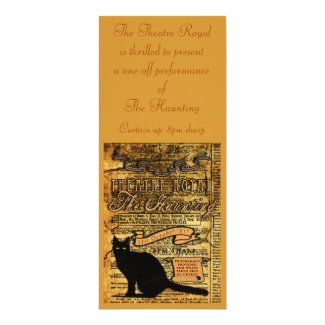 The Haunting 4x9.25 Paper Invitation Card