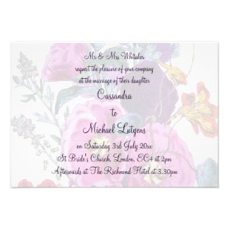 The Hollyhocks Collection Wedding Invite