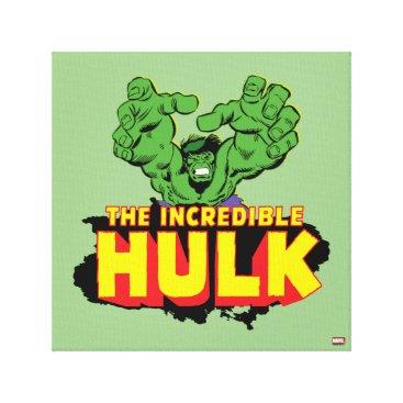 The Incredible Hulk Logo Canvas Print