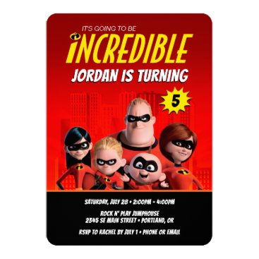 The Incredibles Family Birthday Invitation