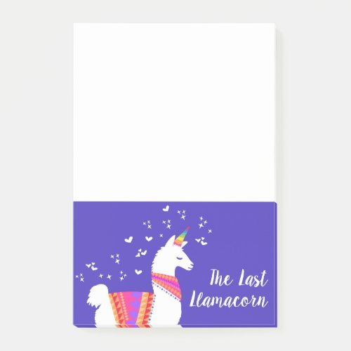 The Last Llamacorn Half Llama Half Unicorn Post-it Notes