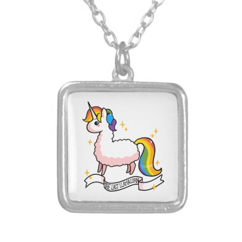 The Last Llamacorn Silver Plated Necklace