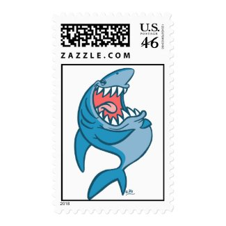 The Laughing Shark cartoon postage stamp stamp
