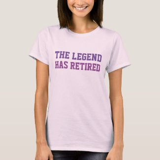 The Legend Has Retired Purples T-Shirt