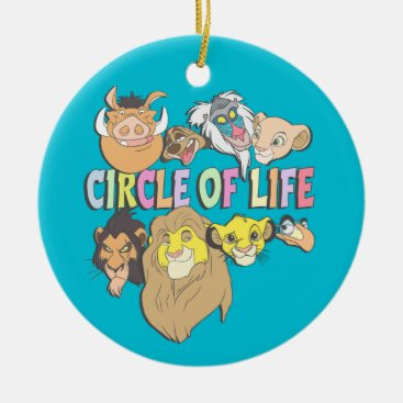 The Lion King   Circle of Life Ceramic Ornament