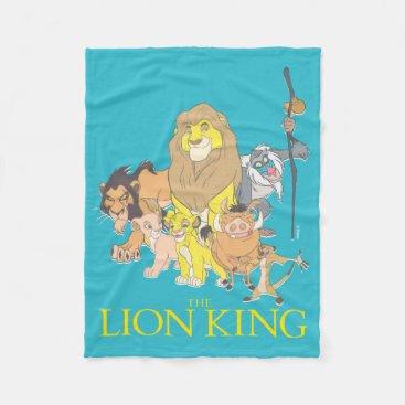 The Lion King | Title & Characters Fleece Blanket