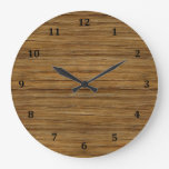 The Look of Driftwood Oak Wood Grain Texture Large Clock