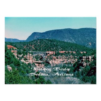 The MIdgley Bridge inSedona Arizona Posters
