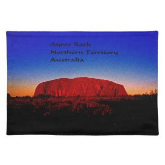 The most sacred monolith in Australian outback Cloth Placemat