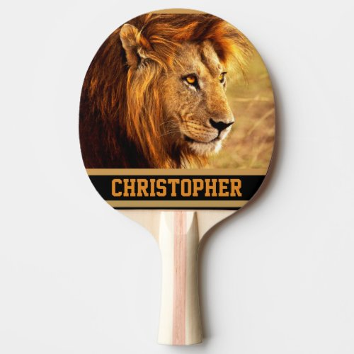 The Noble Lion Photograph Ping-Pong Paddle