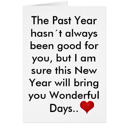 The Past Year Letter, Happy New Year Inspirational