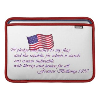 The Pledge of Allegiance - 1892 MacBook Sleeve
