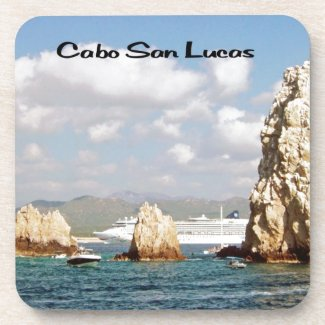 The point at Cabo San Lucas Beverage Coaster