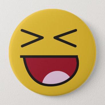 The popular LOL emoji Pinback Button