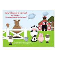 The Red Barn Birthday Party Invitation