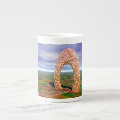 The Road Less Traveled, Abstract Arch, Farmlands Bone China Mug