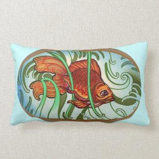 orange goldlfish tattoo pillow