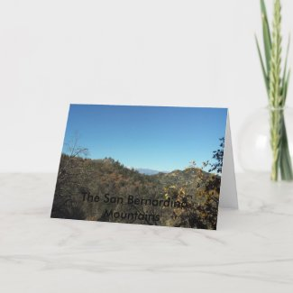 The San Bernardino Mountains Notecards card