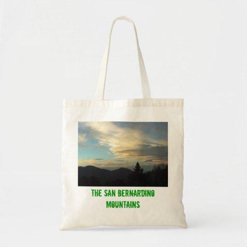The San Bernardino Mountains Tote Bag zazzle_bag