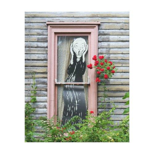 The Scream in a Window Canvas Prints