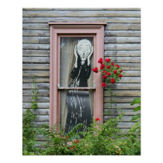 The Scream in a Window Posters