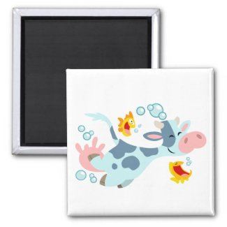 The Sea Cow and Fish Friends magnet magnet