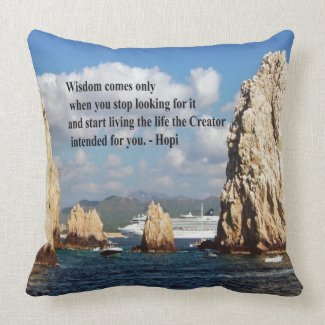 The secret path to wisdom throw pillow