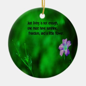 The secret to life Double-Sided ceramic round christmas ornament