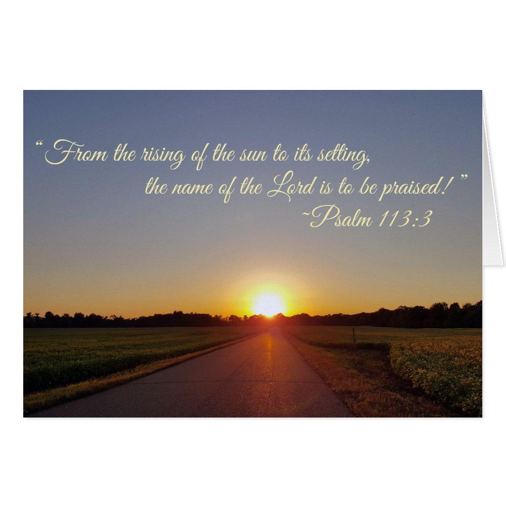 The Setting Sun - Greeting Card